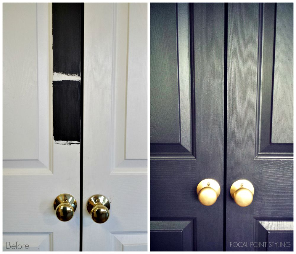Exceptionnel FOCAL POINT STYLING: How To Paint Interior Doors Black U0026 Update Brass  Hardware
